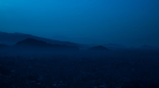 View over Pokhara at night.