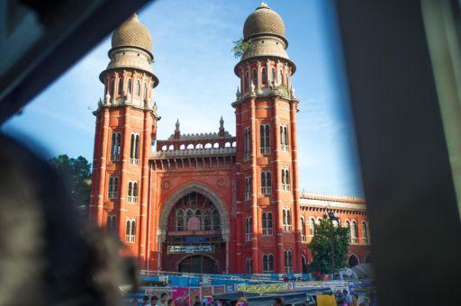 Central Chennai and the Chennai Legal College Building.