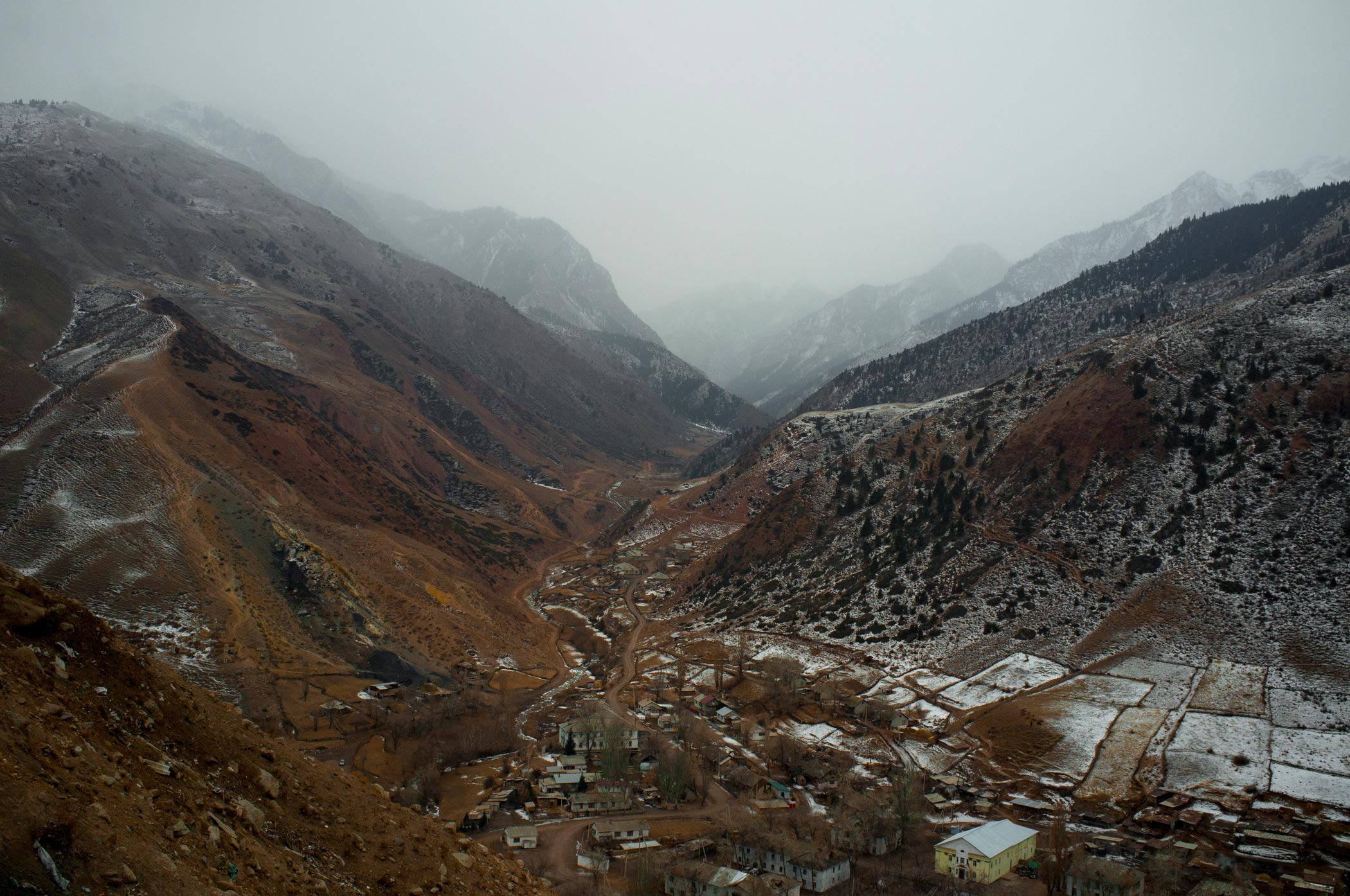 A view across the valley in Min Kush, Kyrgyzstan