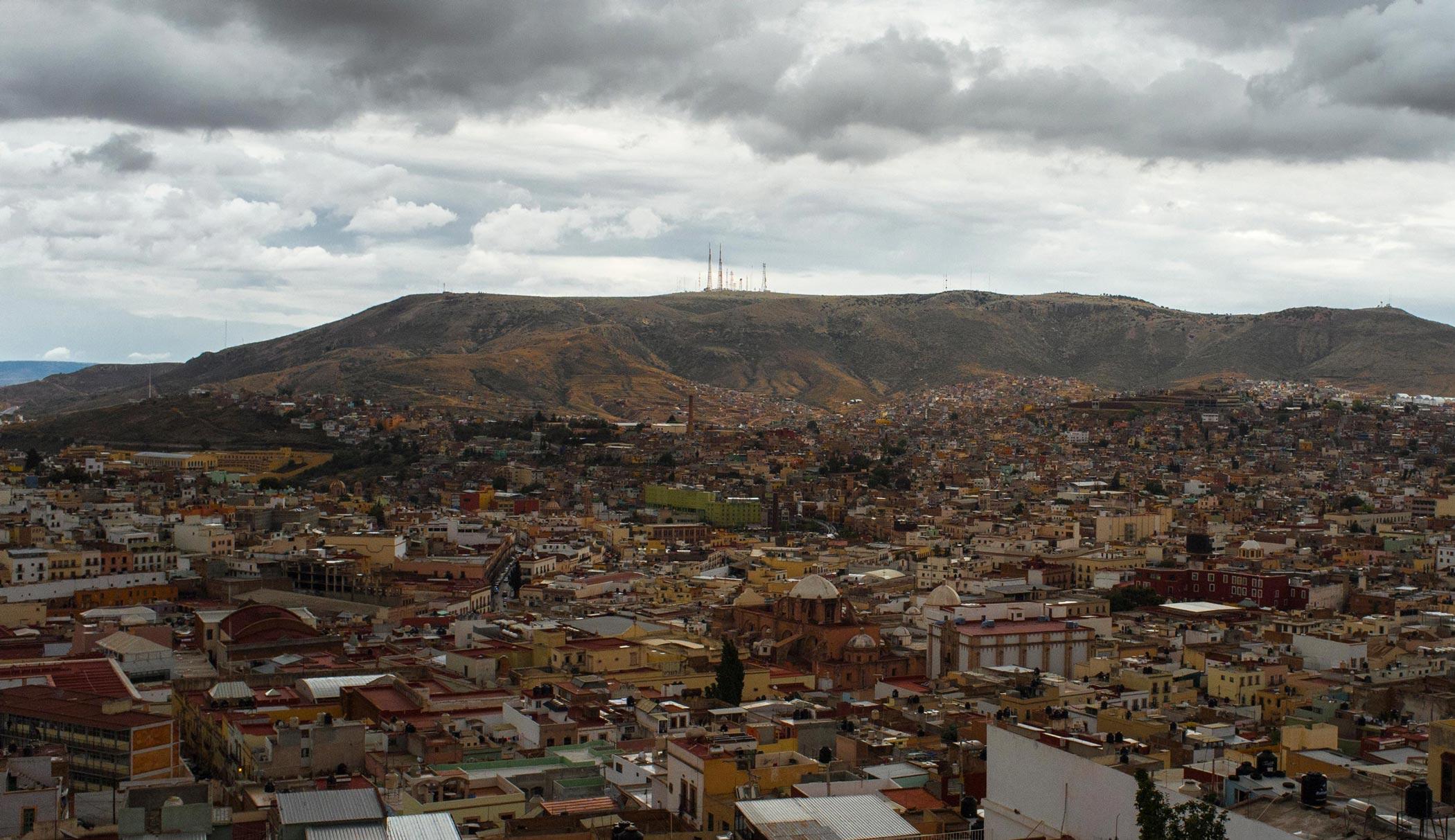 A hilltop view across the city of Zacatecas, Mexico
