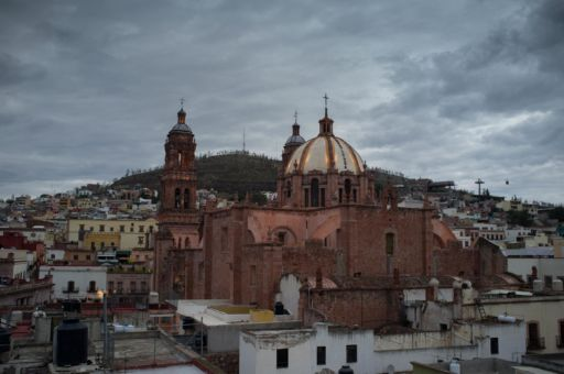 Rooftop view of Zacatecas Cathedral