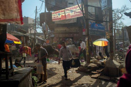 The ramshackle and maze-like streets of Varanasi.