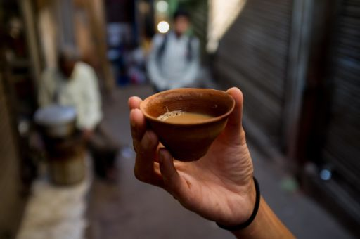Chai is sometimes served in petite terracotta cups, which you smash after drinking.