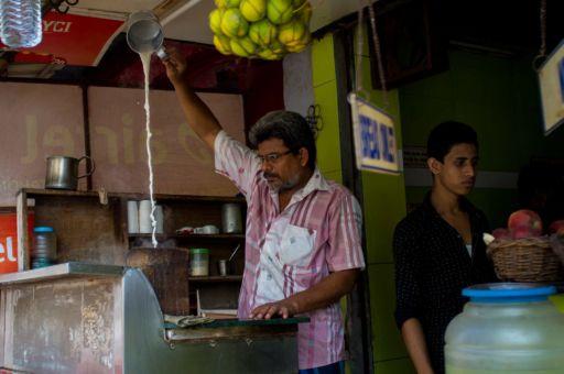 A chai wallah in Chennai.