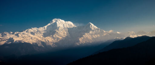 View of the Annapurnas from Pokhara