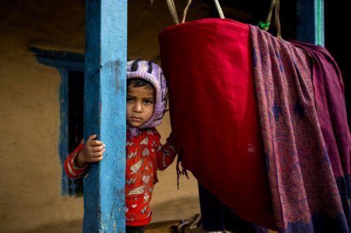 A child in the village of Landruk.