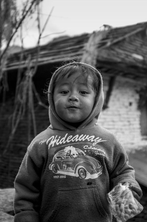 A child in one the villages in the foothills of the Annapurna mountains.