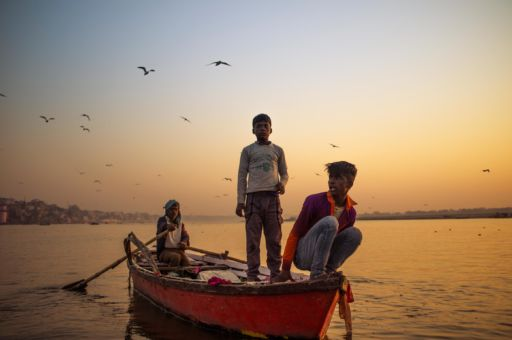 Early fishing on Ganges.