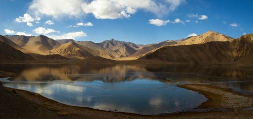 A lake along the Karakoram Highway in western Xinjiang.